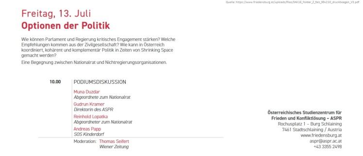 2018-07-20_35ste-Sommerakademie-Burg-Schlaining_Optionen-der-Politik_in-Zeiten-von-Shrinking-Space