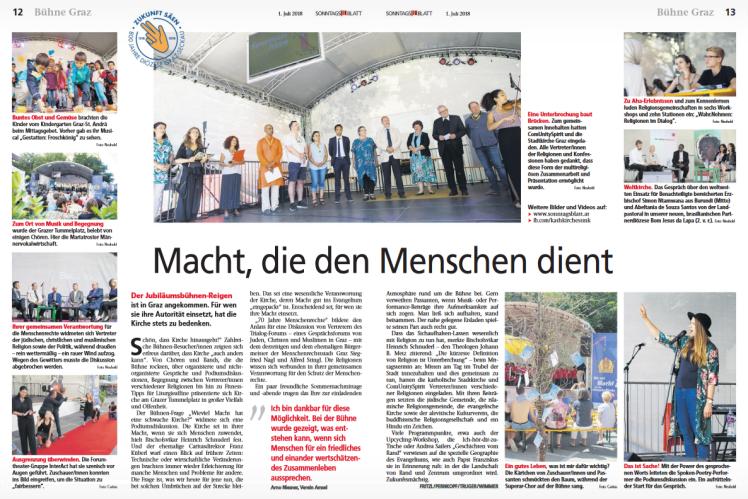 2018-07-01_Sonntagsblatt_800-Jahr-Feier_Jubilaeumsbuehne_InterACT_Verein-AMSEL-Erwaehnungen